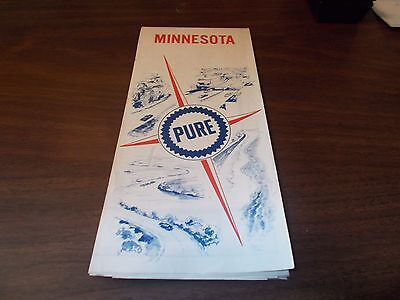 1967 Pure Oil Minnesota Vintage Road Map
