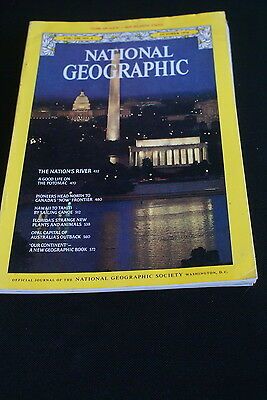 National Geographic October 1976 mid Atlantic states / sailing canoes