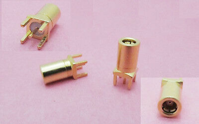 SMB Female Center Solder F PC Board PCB Mount Straight RF Connector Adapter Gold