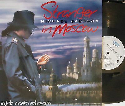 "MICHAEL JACKSON ~ Stranger In Moscow ~ 6 TRACK 12"" Single PS"