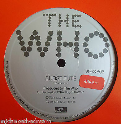 "THE WHO ~ Substitute ~ 12"" Single"
