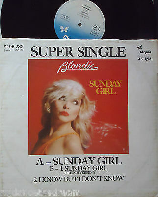 "BLONDIE ~ Sunday Girl ~ MAXI 12"" Single PS - GERMAN PRESSING"