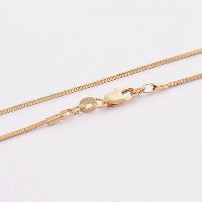 """Fine! 1pc 18K Yellow Gold Filled snake Chain Necklace 22"""""""