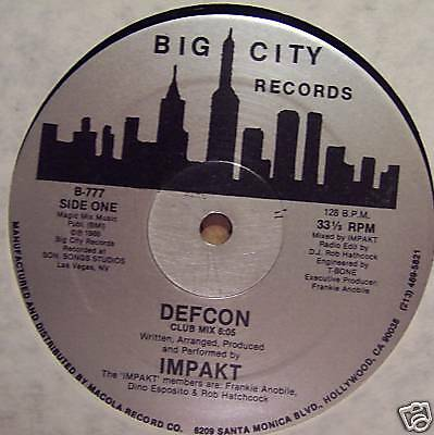 "IMPAKT ~ Defcon ~ 12"" Single ~ USA PRESSING"