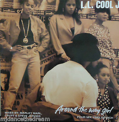 "LL COOL J ~ Around The Way Girl ~ 12"" Single PS"