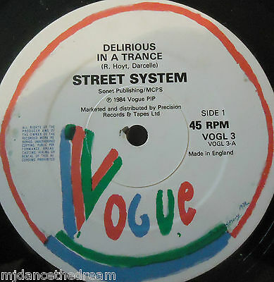 "STREET SYSTEM - Delirious In A Trance ~ 12"" Single"