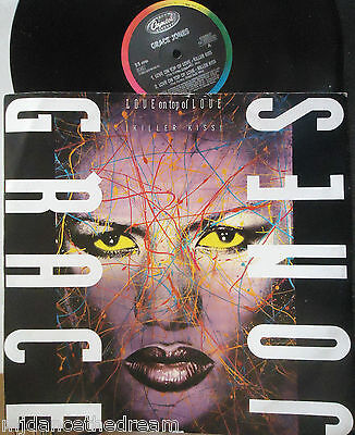 "GRACE JONES ~ Love On Top Of Love ~ 12"" Single PS ITALIAN PRESS"