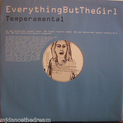 """EVERYTHING BUT THE GIRL ~ Temperamental ~ 12"""" Single PS"""