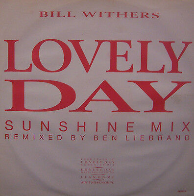 "BILL WITHERS ~ Lovely Day SUNSHINE MIX ~ 12"" Single PS"