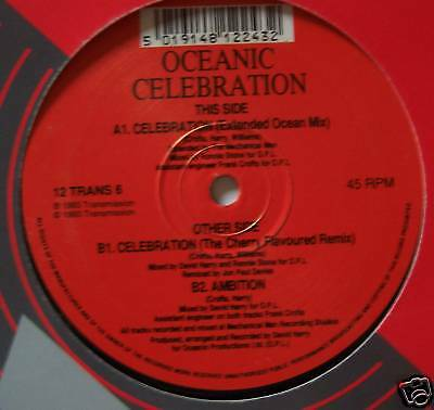 "OCEANIC ~ Celebration ~ 12"" Single"