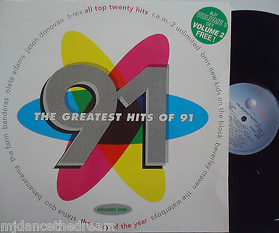 THE GREATEST HITS OF 91 - VOLUME 1 ~ Various Artists ~ VINYL LP