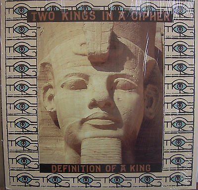 "TWO KINGS IN A CIPHER ~ Definition Of A King ~ 12"" Single PS USA PRESS"