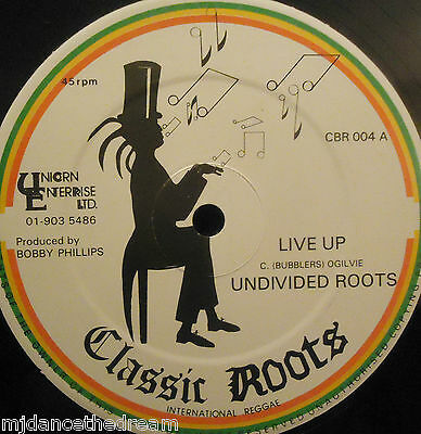 """UNDIVIDED ROOTS - Live Up ~ 12"""" Single"""