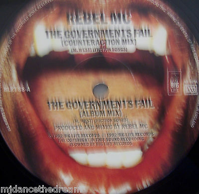 "REBEL MC - The Governments Fail ~ 12"" Single"