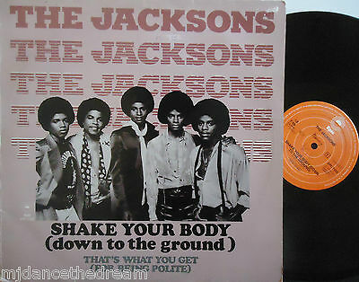 "THE JACKSONS ~ Shake Your Body / Thats What You Get 12"" Single PS DUTCH PRESS"