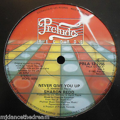 "SHARON REDD ~ Never Give You Up / Beat The Street ~ 12"" Single"