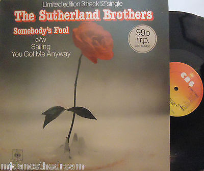 "THE SUTHERLAND BROTHERS ~ Somebodys Fool ~ LTD ED 12"" Single PS"