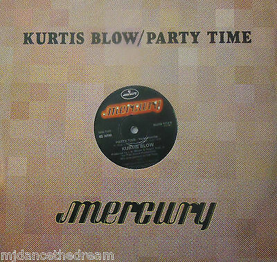 "KURTIS BLOW - Party Time - 12"" Single PS"