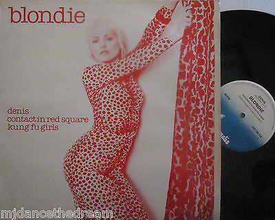 "BLONDIE ~ Denis / Contact In Red Square ~ 12"" Single PS"