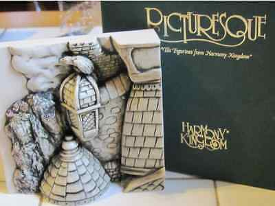 """***Picturesque Tile Harmony Kingdom Wimberley Tales  """"The Rooftop""""  in Box ***"""