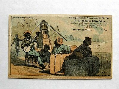Victorian Trade Card Tabacco Plantation w/ Slaves Image