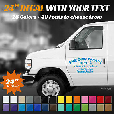 "24"" Custom Car, Truck Door & Rear Window Decal Business Name Vinyl Sign, Decal"