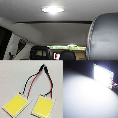 2x White 24COB HID LED Panel Light For Car Interior Door Trunk Map Dome Light TQ