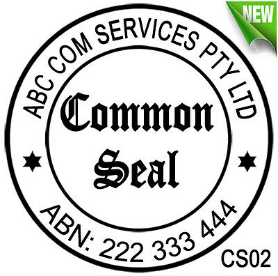 CS02 Custom Business The Common Seal of Rubber Flash Stamp Self Inking Refillabl