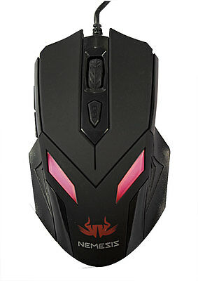 Nemesis Zark Gaming USB Optical Mouse with LED Light 2400 DPI