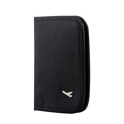 Travel Wallet Black Document Organiser  - By TRIXES