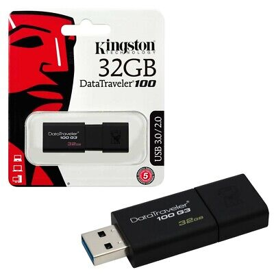 32GB USB 3.0 Kingston Data Traveler 100 G3 USB 3.0 Flash Drive Memory Stick 32GB