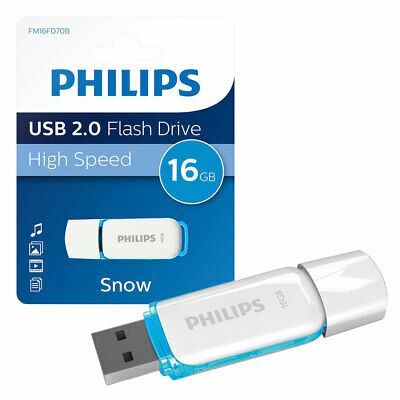 16GB Philips Snow Series USB 2.0 Flash Drive USB 2.0 Memory Stick 16GB