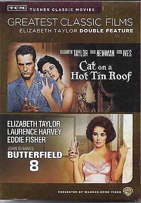 Cat On A Hot Tin Roof/Butterfield 8 (DVD 2013 2 Disc) Newman Taylor SLIPCOVER