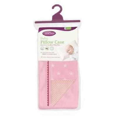 Clevamama Replacement Baby Pillow Case Cover (Pink) Approx 39x23cm