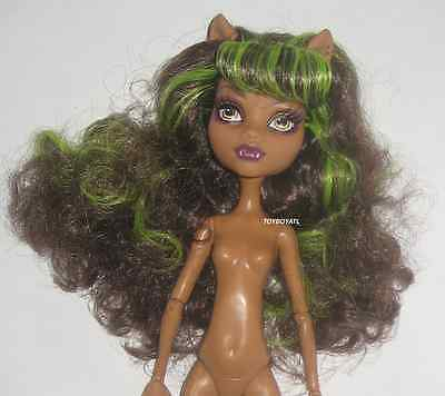Monster High Power Ghouls Wonder Wolf Clawdeen Nude Doll LOOSE NEW for OOAK