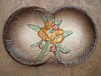 Carlton Ware Serving Dish Embossed with Flowers.