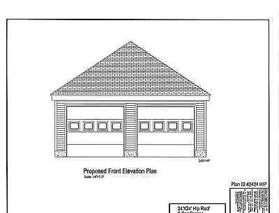 2 Car Garage Plans Blueprints 24 X24 Hip Roof 17 2424hp 1 2 Car Garage Hip 29 99 Picclick