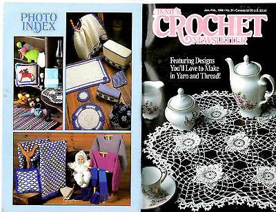 ANNIE'S CROCHET NEWSLETTER #31 JANUARY FEBRUARY 1988 IRISH LACE DOILY COVER