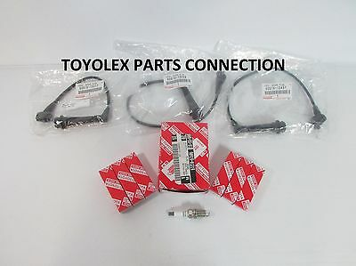 New Lexus Is300 Gs300 Oem Toyota Factory Spark Plug  Set (6)  With Wire Set (3)