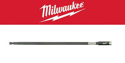 "Milwaukee EXTRA LONG 300mm Impact Rated Magnetic 1/4"" Hex Bit Holder 48324512"