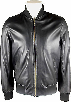 Unicorn Mens Casual Leather Jacket Black Soft Touch Leather #DH