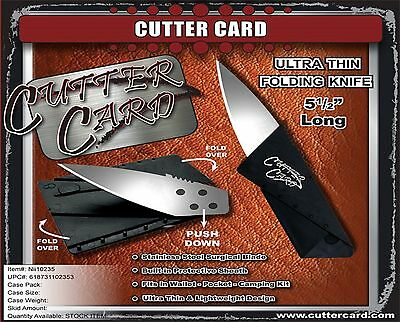 Cutter Card Ultra Thin Folding Pocket Knife Stainless Steel Surgical Blade New