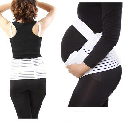 Hot White Maternity Waist Abdomen Support Belt Pregnancy Belly Back Brace Band