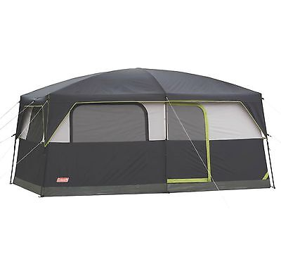 Coleman Prairie Breeze 9 Person WeatherTec Camping Tent w/Fan & Light | 14 x 10'