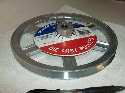 """100's V Belt Pulley 1000-A NEW Zinc Die cast 10"""" od Bore Sizes 1/2,5/8,3/4,1"""""""