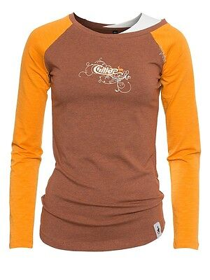 Chillaz LS Montagu, Langarm-Shirt für Damen, brick-orange