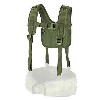 Condor - Military H-Harness with Suspender Supports Battle Belt (OD Green) #215