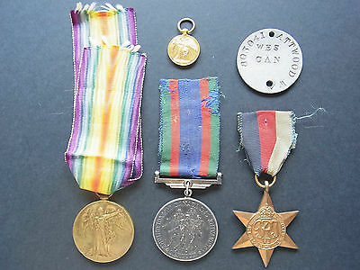 Canada Medaille Medal 1914-1919 Voluntary Service, THE 1939 - 45 Star Dog tag