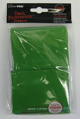 Ultra Pro Deck Protector Green (100) Sleeves Hüllen (66 x 91mm) für MtG Pokemon