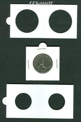 50 LIGHTHOUSE 20mm STAPLE TYPE 2x2 COIN HOLDERS - Suit Sixpence, 1 & 5 Cent